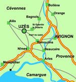 Uzes is just 40km west of Avignon